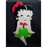 Betty Boop Wall Clock Swinging Legs Hula Design (retired Item)