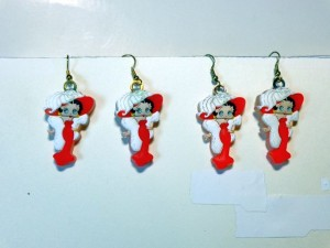 Betty Boop Earrings Lot #02 Mae West Design 2 Piece Set (retired Item)