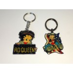 Betty Boop Key Chains Lot #02 Biker Designs. Two Pieces.