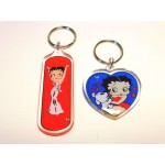 Betty Boop Key Chains Lot #22 White Gown & Heart With Pudgy Designs Two Pieces.