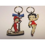 Betty Boop Key Chains Lot #25 Hollywood/vine & Waving Designs Two Pieces.