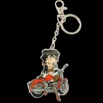 Betty Boop Key Chain - Zipper Pull Biker Design