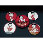 Betty Boop Coasters 4 Piece Set W/ Tin Case (retired)