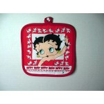 Betty Boop Pot Holder Waving Red