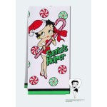 Betty Boop Kitchen Tea Towel Christmas Design