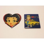 Betty Boop Magnets Lot #12 Heart Face & I Love Ny  Designs Two Piece Set