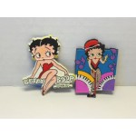 Betty Boop Magnets Lot #16 Sitting On Name & Piano Designs Two Piece Set.