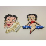 Betty Boop Magnets Lot #19 Hands Up & Sitting On Name Design Two Piece Set
