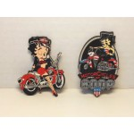 Betty Boop Magnets Lot #20 Biker Designs Two Piece Set