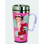 Betty Boop Travel Mug Nurse Design Pink (acrylic)