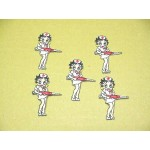 Betty Boop Patch Lot Nurse Design Five Pieces
