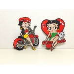 Betty Boop Patch Lot #11 Biker & Heart With Pudgy Designs