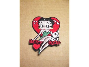 Betty Boop Patch Lot #03 Heart With Pudgy Design Large