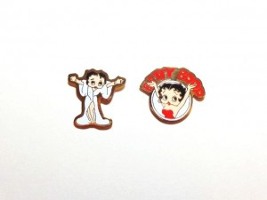 Betty Boop Pins Lot #29 White Coat & Arms Up Designs Two Pieces