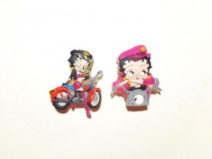 Betty Boop Pins Lot #40 Biker Designs Two Pieces.
