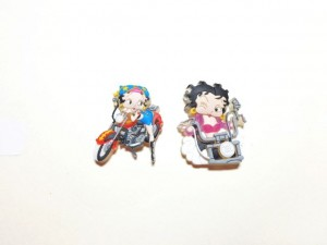 Betty Boop Pins Lot #42 Biker Designs Two Pieces.