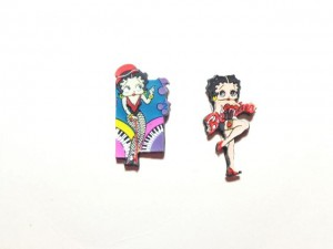 Betty Boop Pins Lot #45 Piano & Be Mine Designs Two Pieces.