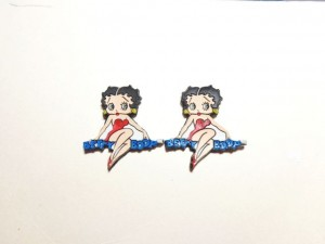 Betty Boop Pins Lot #47 Sitting On Name Design Two Pieces.
