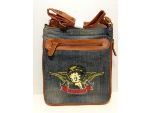 Betty Boop Pocketbook / Purse #78 Messenger Bag Heart Breaker Design Denim