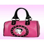 Betty Boop Pocketbook / Purse #108 Satchel Bag Kiss Design Hot Pink