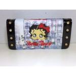 Betty Boop Tri-fold Wallet #049 Bow Design Black