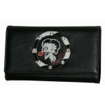 Betty Boop Tri-fold Wallet #054 Kiss Design Zebra Ring
