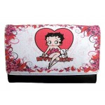 Betty Boop Tri Fold Wallet #063 Heart With Pudgy Design