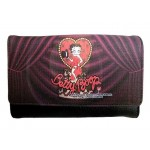 Betty Boop Tri Fold Wallet #065 Heart With Top Hat Design