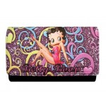 Betty Boop Tri Fold Wallet #067 Multi Colors  Leg Up Design