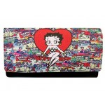Betty Boop Tri Fold Wallet #068 Multi Poses Design