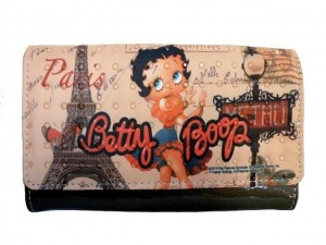 Betty Boop Tri Fold Wallet #069 Betty In Paris Design