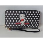 Betty Boop Zip Around Wallet #072 Polka Dot Design
