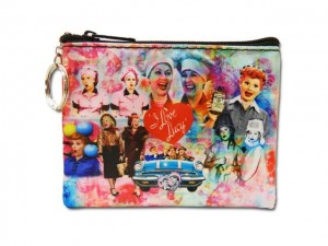 I Love Lucy Key Chain Coin Purse Collage Design