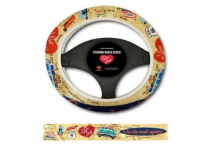 I Love Lucy Steering Wheel Cover Road Trip Design