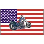 American Flag With Motorcycle Design 3' X 5'