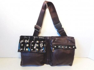 Fanny Pack #02 Brown With Studs Design