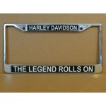 Harley Davidson License Plate Frame The Legend Rolls On Design