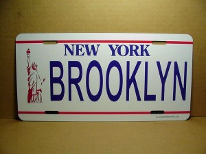 License Plate New York  Brooklyn Design