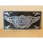Harley Davidson License Plate Wings Design