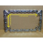 Motorcycle License Plate Frame Chain Design