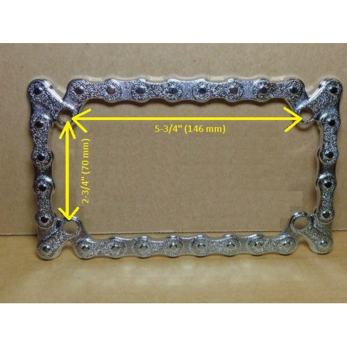 motorcycle license plate frame chain design - Motorcycle Plate Frame