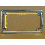 Motorcycle License Plate Frame Chrome Design