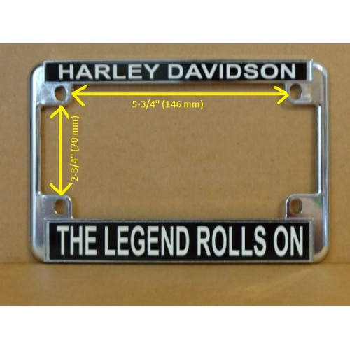Harley Davidson Motorcycle License Plate Frame The Legend Rolls On ...