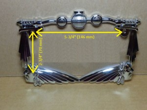 Motorcycle License Plate Frame Handle Bar Indian Chief Design