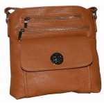 Pocketbook / Purse #32 Messenger Bag Leatherette Design Camel