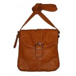 Pocketbook / Purse #42 Messenger Bag Buckle Design Camel