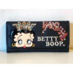 Betty Boop Tri-fold Wallet #031 Crown Design Black