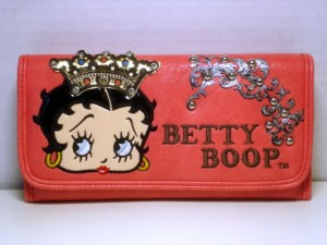 Betty Boop Tri-fold Wallet #032 Crown Design Coral