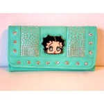 Betty Boop Tri-fold Wallet #035 Face Design Mint