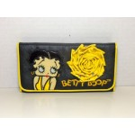 Betty Boop Tri-fold Wallet #037 Yellow Rose Design